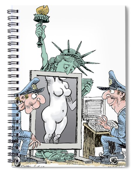 Airport Security And Liberty Spiral Notebook
