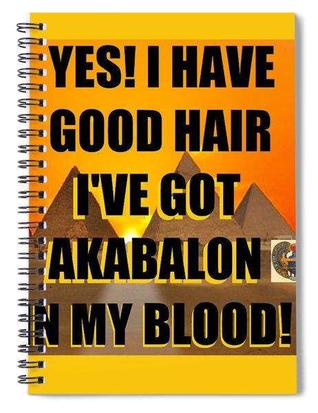 Akabalon Hair Spiral Notebook