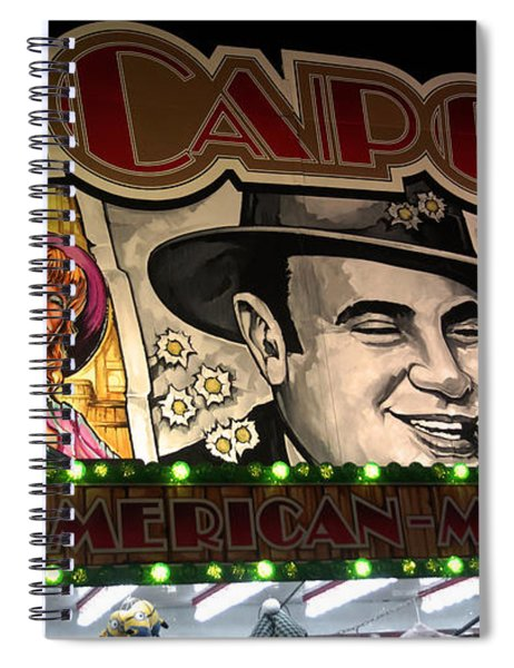 Al Capone On Funfair Spiral Notebook