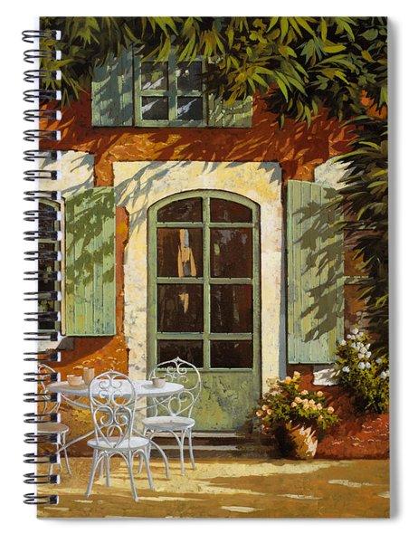 Al Fresco In Cortile Spiral Notebook