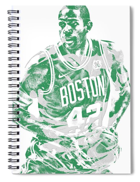 Al Horford Boston Celtics Pixel Art 6 Spiral Notebook