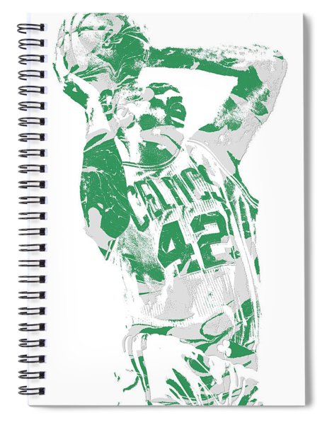Al Horford Boston Celtics Pixel Art 8 Spiral Notebook