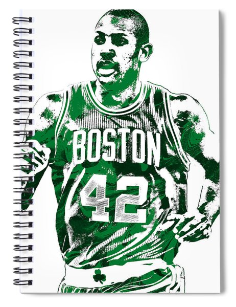 Al Horford Boston Celtics Pixel Art Spiral Notebook