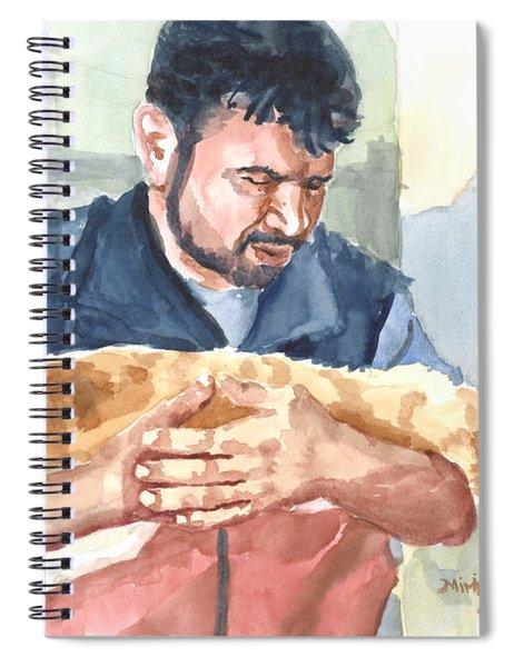 Alaa Rescuing An Injured Cat Spiral Notebook