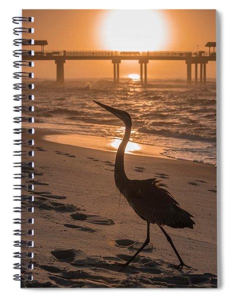 Alabama Blue Heron Spiral Notebook