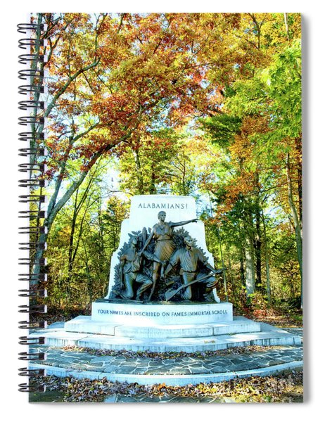 Alabama Monument At Gettysburg Spiral Notebook