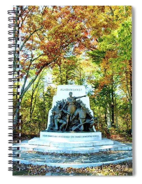 Alabama Monument At Gettysburg Spiral Notebook