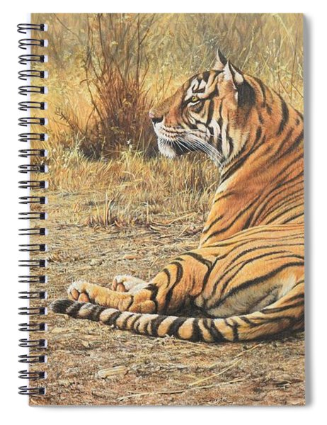 Spiral Notebook featuring the photograph Alarm Call by Alan M Hunt