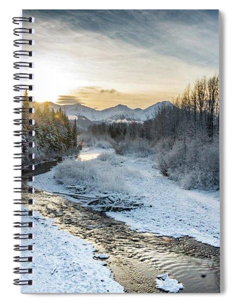Alaska Sunset Spiral Notebook