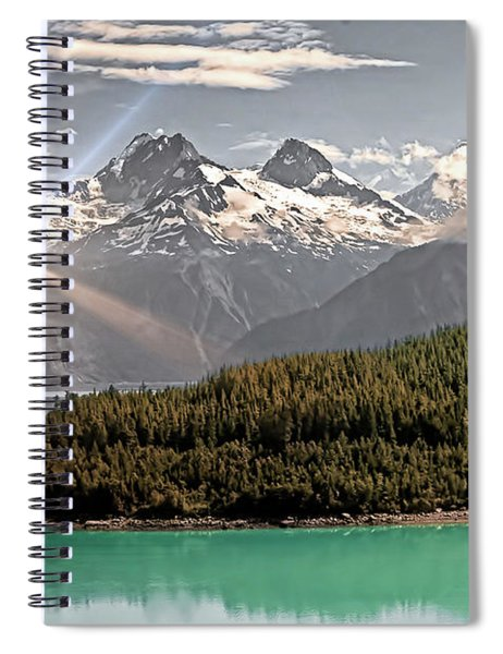 Alaskan Mountain Reflection Spiral Notebook