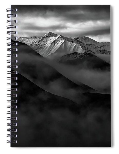 Alaskan Peak In The Shadows Spiral Notebook