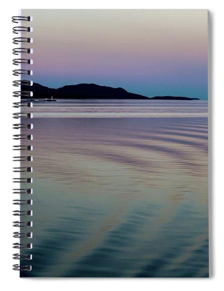 Alaskan Sunset At Sea Spiral Notebook