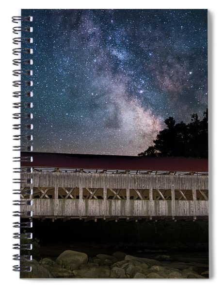 Albany Covered Bridge Under The Milky Way Spiral Notebook