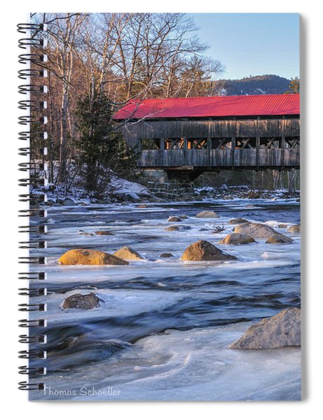 Albany Covered Bridge-white Mountains Of New Hampshire Spiral Notebook