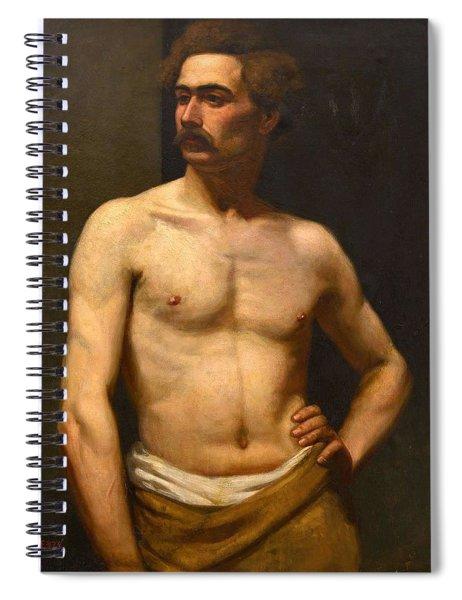 Albert Edelfelt Male Model Spiral Notebook