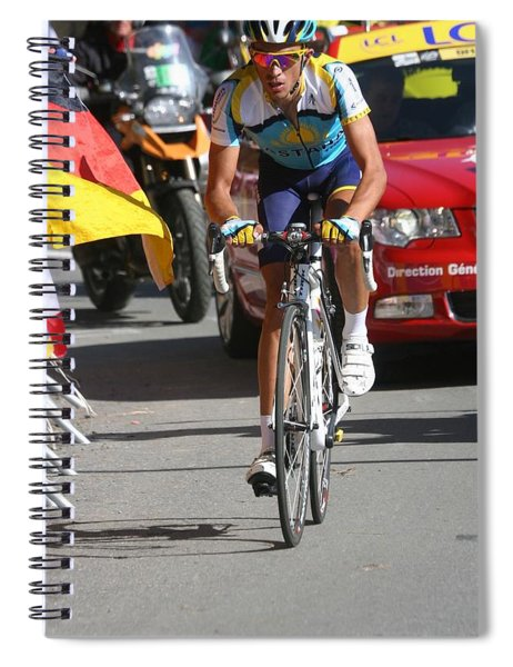 Alberto Contador - Mountain Stage Spiral Notebook by Travel Pics