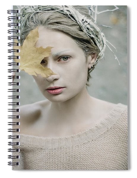 Albino In Forest. Prickle Tenderness Spiral Notebook