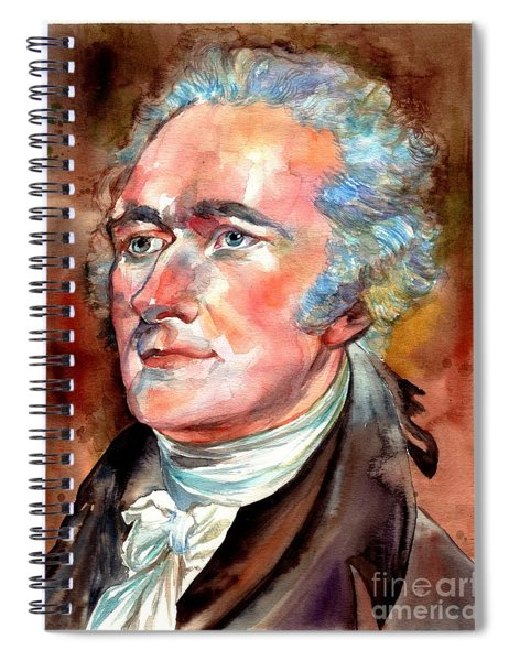 Alexander Hamilton Watercolor Spiral Notebook