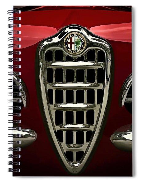 Alfa Red Spiral Notebook