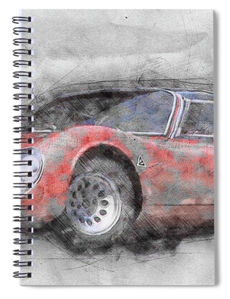 Alfa Romeo 33 Stradale 2 - 1967 - Automotive Art - Car Posters Spiral Notebook