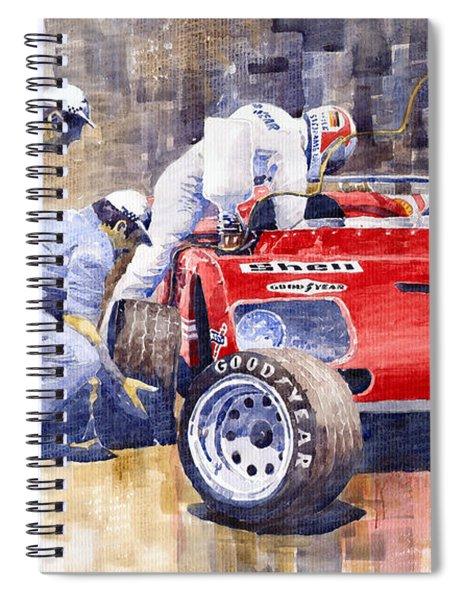 Alfa Romeo 33tt3 Targa Floria 1972 Vaccarella Stommelen Spiral Notebook