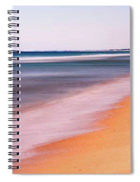 Spiral Notebook featuring the photograph Algarve Beach, Long Exposure - Portugal by Barry O Carroll