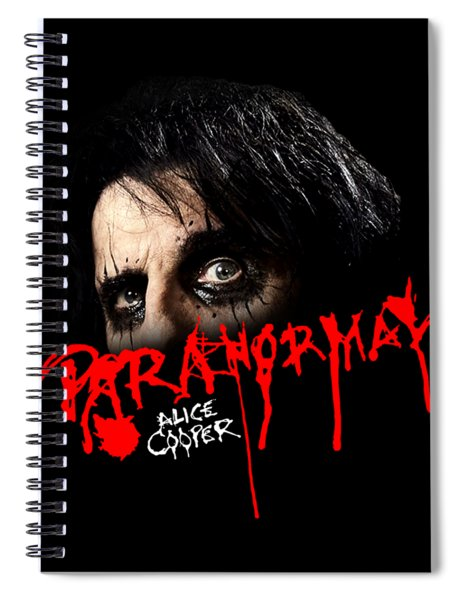 Alice Cooper Paranormal Face Spiral Notebook