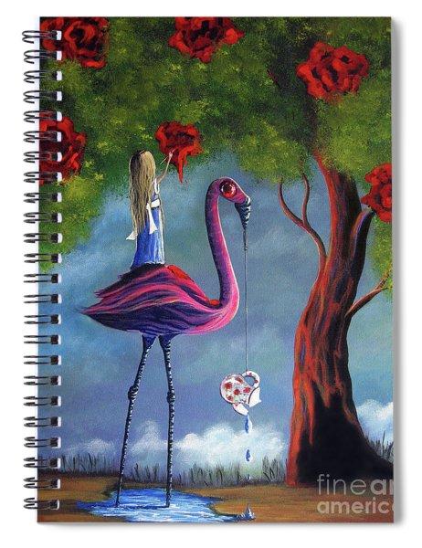 Alice In Wonderland Artwork  Spiral Notebook