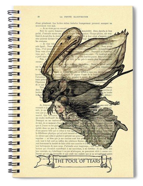 Alice's Adventures In Wonderland The Pool Of Tears Spiral Notebook