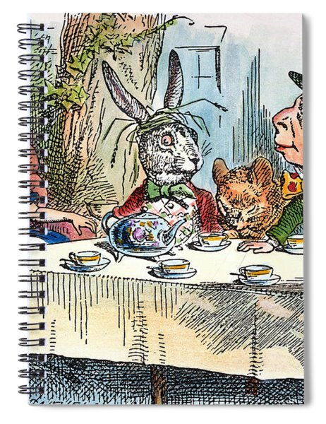 Alices Mad-tea Party, 1865 Spiral Notebook