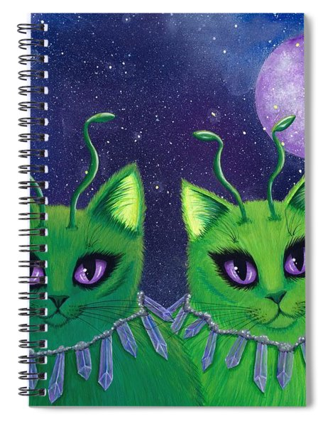 Alien Cats Spiral Notebook