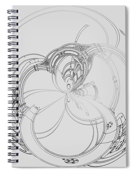 Alien Flywheel Spiral Notebook