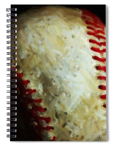 All American Pastime - Baseball - Square - Painterly Spiral Notebook