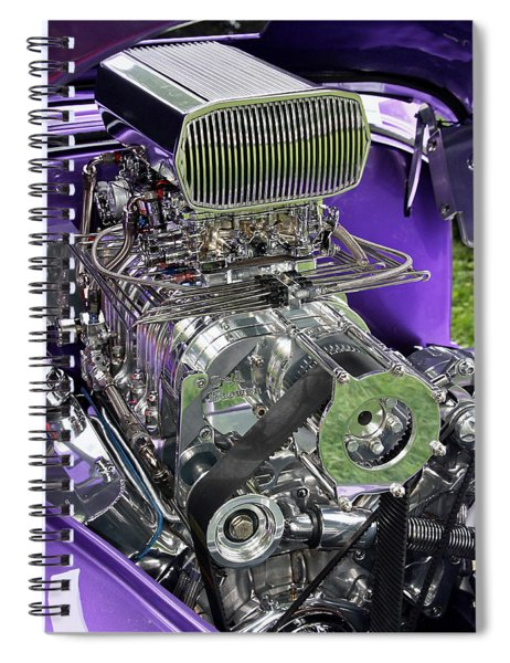 All Chromed Engine With Blower Spiral Notebook