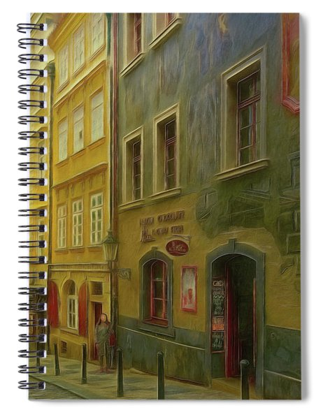All Downhill From Here - Prague Street Scene Spiral Notebook