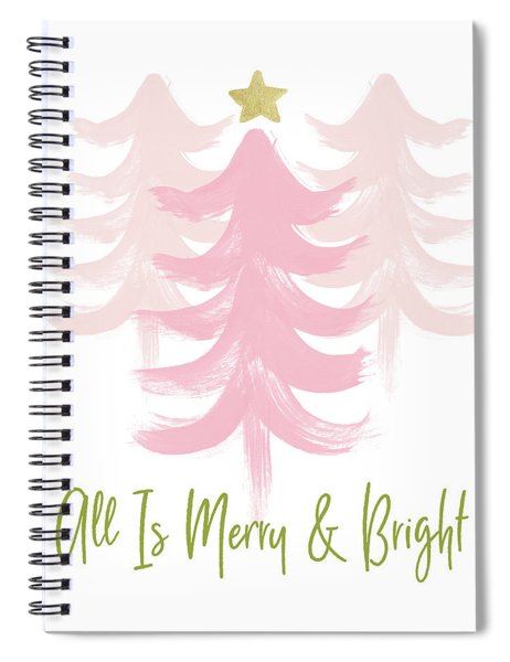 All Is Merry And Bright- Art By Linda Woods Spiral Notebook
