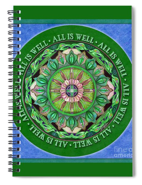 All Is Well Mandala Prayer Spiral Notebook