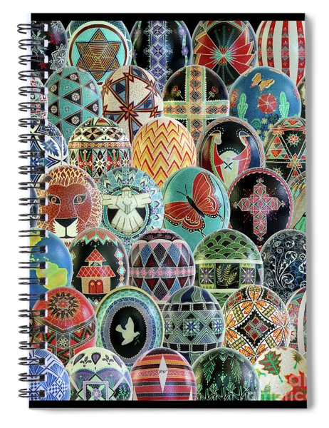 All Ostrich Eggs Collage Spiral Notebook