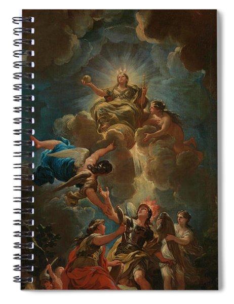 Allegory Of Divine Wisdom Spiral Notebook