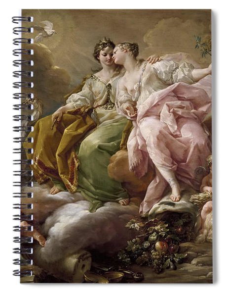 Allegory Of Justice And Peace Spiral Notebook