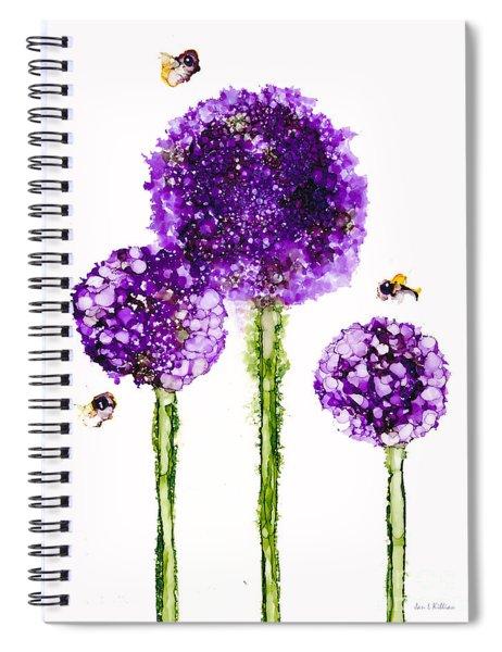 Alliums Humming Spiral Notebook