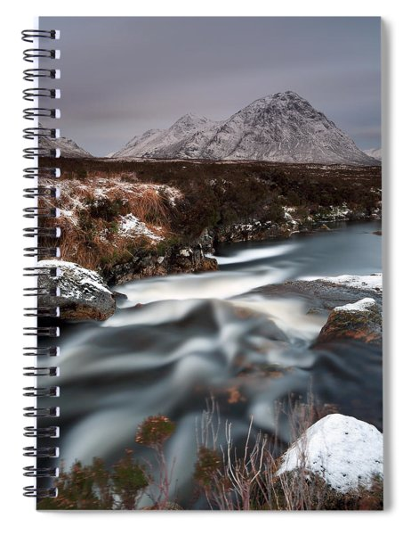 Allt Nan Giubhas And The Peak Of Stob Dearg Spiral Notebook