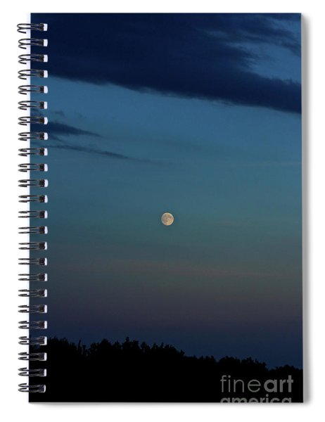 Almost Full Moon Spiral Notebook