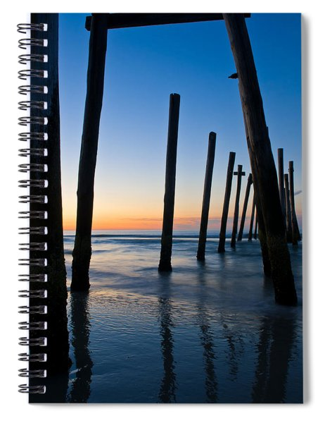 Almost Sunrise At The Pier Spiral Notebook