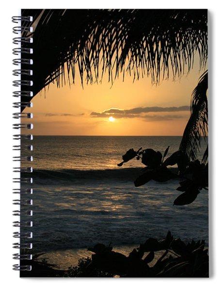 Aloha Aina The Beloved Land - Sunset Kamaole Beach Kihei Maui Hawaii Spiral Notebook