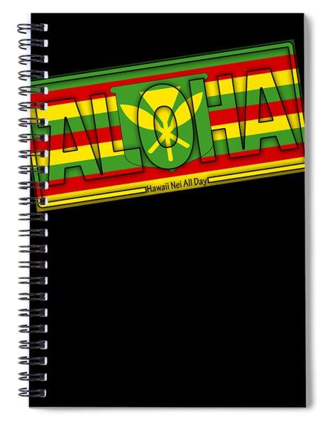 Aloha Hawai'i Kanaka Maoli By Hawaii Nei All Day Spiral Notebook