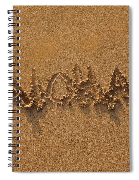 Aloha In The Sand Spiral Notebook