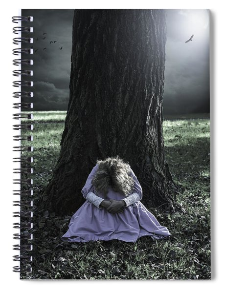 Alone At Night Spiral Notebook