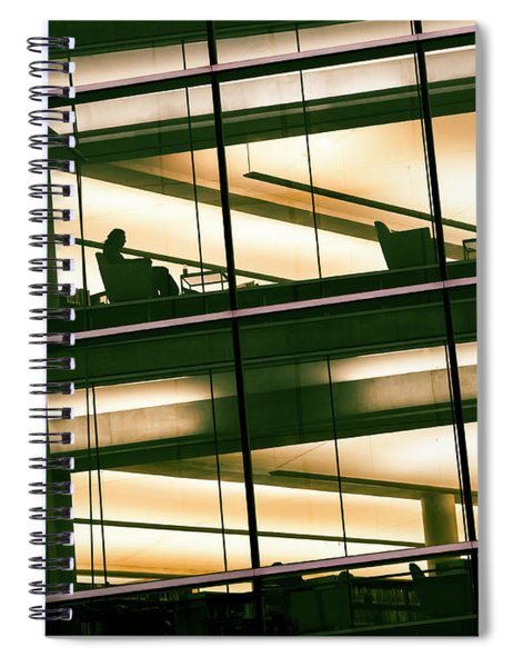 Alone In The Temple Spiral Notebook