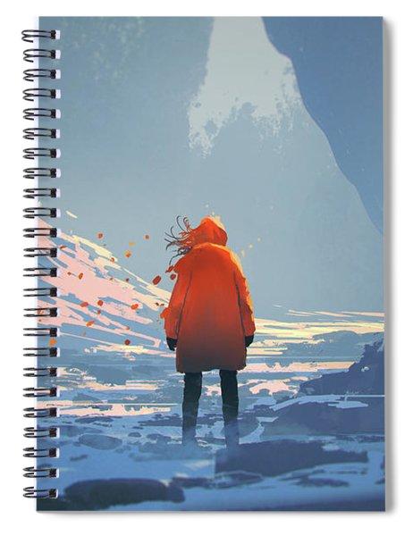 Alone In Winter Spiral Notebook